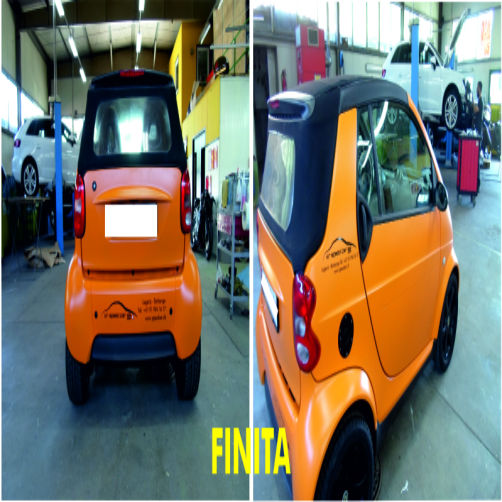 smart da rossa ad arancione - CR Speed-Car SA - Carrozzeria - Garage - Barbengo - Lugano