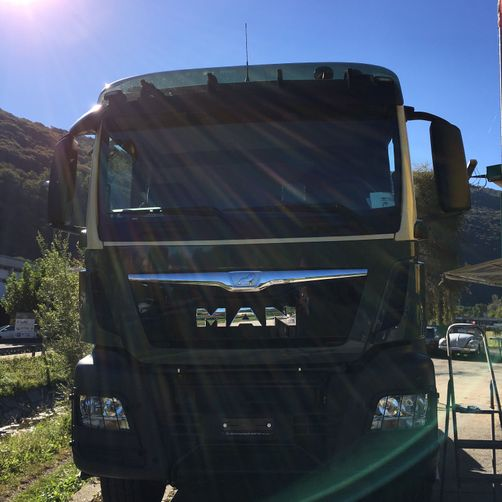 Camion MAN verniciato - CR Speed-Car SA - Carrozzeria - Garage - Barbengo - Lugano