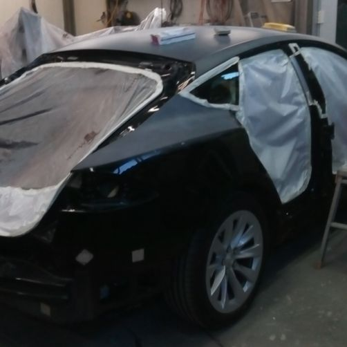 verniciatura Tesla 1 - CR Speed-Car SA - Carrozzeria - Garage - Barbengo - Lugano